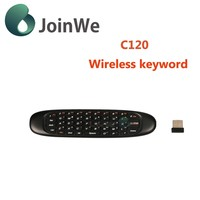 Joinwe Hot Sale Mini Fly Air Mouse C120 2.4ghz Wireless Keyboard For Google Angle Android Mini Pc Tv