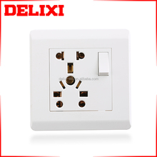 DELIXI Energy saving Outdoor water proof wall switch socket