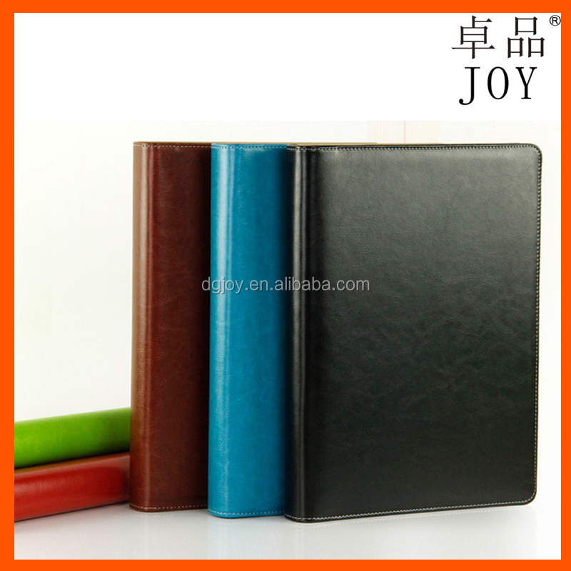 mult-color optional portable diary premium leather notebook stylish organizer with porcket and penholder