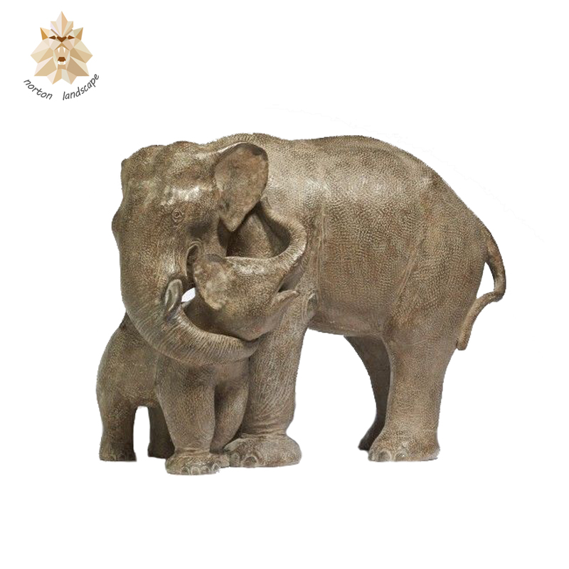 Carved garden outdoor Marble stone elephant statue NTMA-047Y