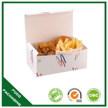 flat pack take away food grade fries chicken box wholeslae