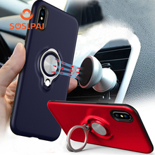 Fashional products hard pc cell phone case with 360 rotation ring for iphone X