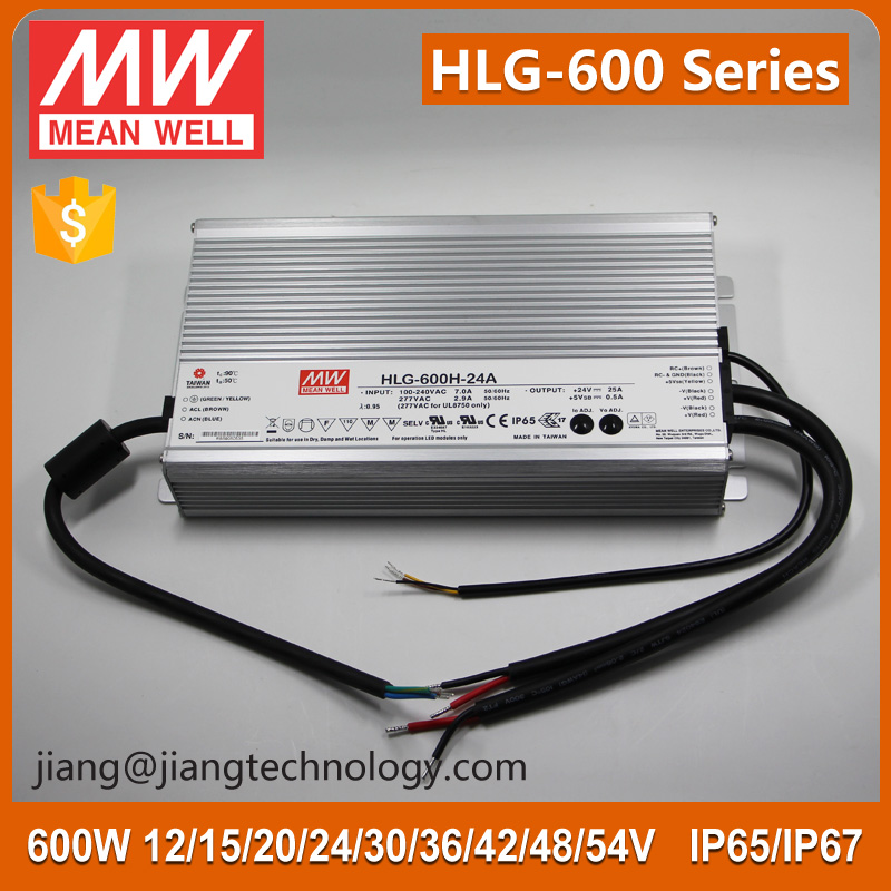 600W LED Driver 36V 16.7A Meanwell HLG-600H-36A 36V 600W Power Supply for LED Light