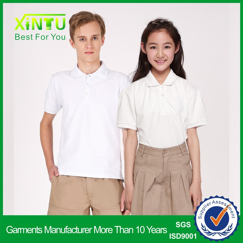 High quality unifrom polo shirt&shorts primary school uniform design