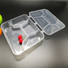 2017 hot sale clear plastic takeaway disposable food container / box