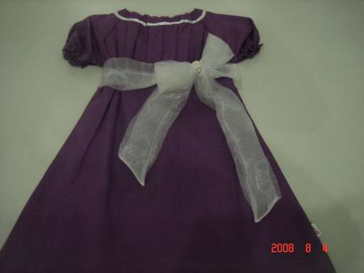 Girl dress with big ribbon