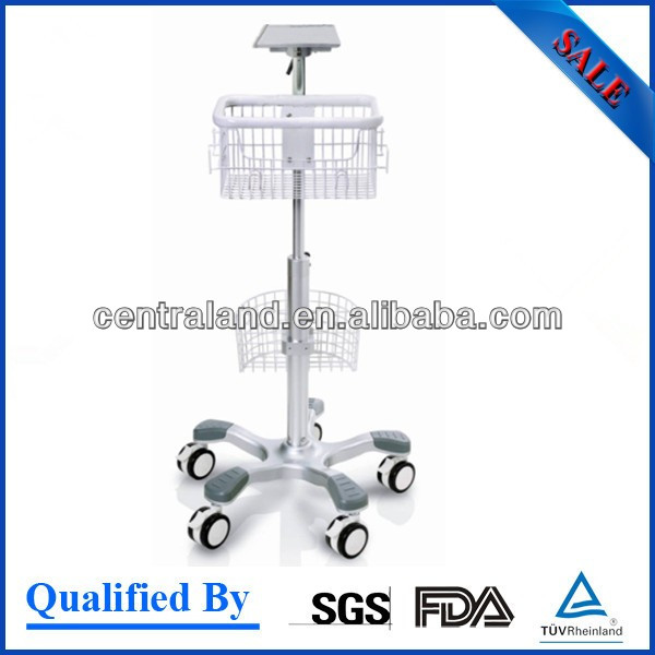 Patient Monitor trolley base,ECG machine with trolley