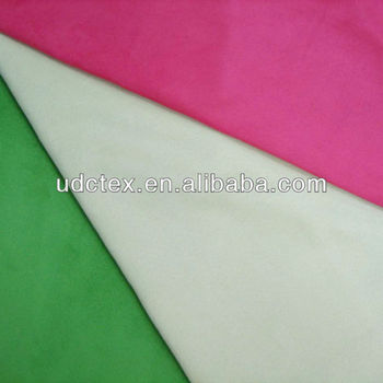 polyester plain color woven suede fabric for sofa