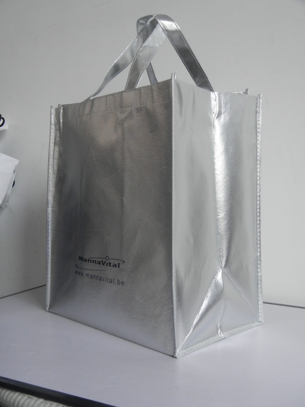 Factory custom laminated colorful non woven tote bags for Custom laminations