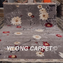 8.3'x11.5' Traditional wool chinese rugs and carpets beautiful flowers wool commercial carpet