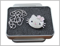 jewelry necklace crystal cute cat shape usb flash drive for gift