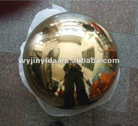 stainless steel 304 grade ball with golden finished