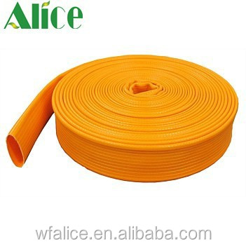 "Plastic Material and 2"",3"",4"" Diameter PVC garden irrigation lay flat hose"