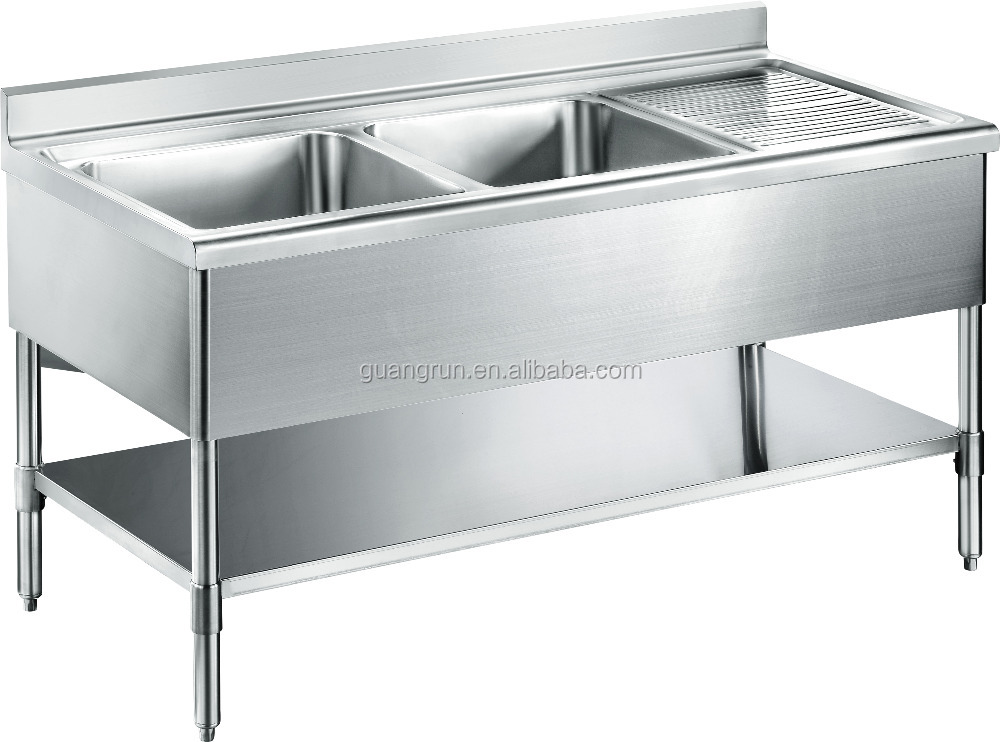 Used Commercial Kitchen Sinks Stainless Steel : Bowl Hotel Used Free-standing Commercial Stainless Steel Kitchen Sink ...