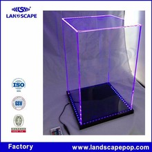 New design acrylic countertop outdoor shoes display rack for shops/clear plexiglass desktop display stand for boot