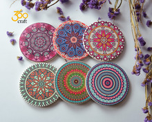 Deft design water absorbent ceramic coaster with cork back sets wholesale