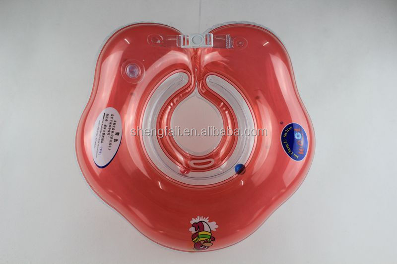 Red inflatable baby neck float collar ring for fun