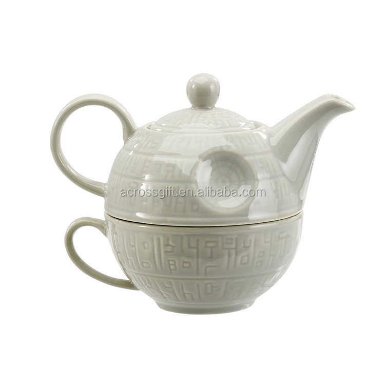 hot sale personalized handmade color glazed ceramic tea set for one