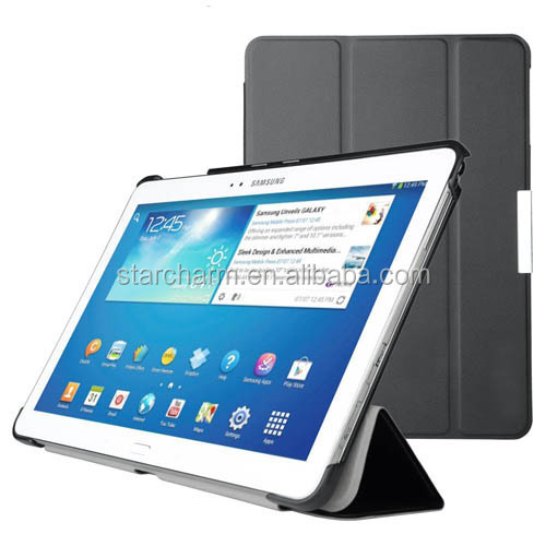 Newest stand pu leather cover case for samsung note 10.1 tablet
