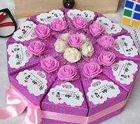 wedding favor slice cake packaging box