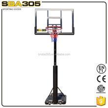 portable basketball stand set with basketball backboard padding