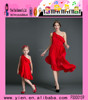 Charm Red One Shoulder Dress Professional Factory One Shoulder Dress