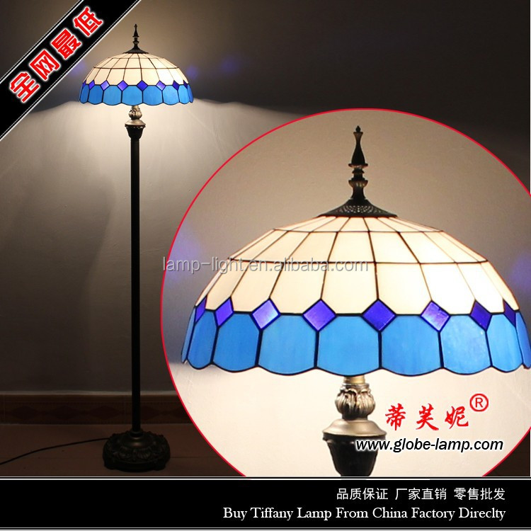 S04716F01, 16 inch traditional tiffany floor lamp wholesale for bedroom
