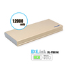 High quality dual usb port with led indictor light 12000 mah super slim power bank