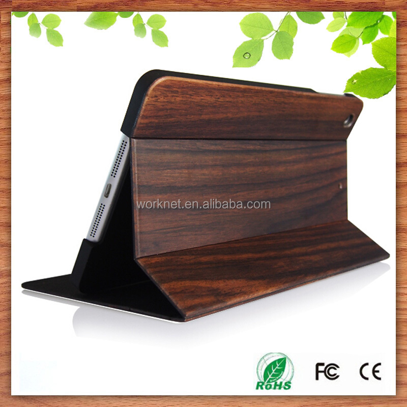 2016 New fashion factory OEM stand function full wood case for Apple iPad Pro 12.9, for iPad Pro case wood