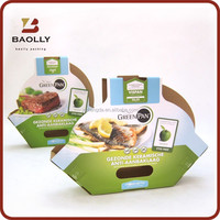 Green diaplay corrugated food packing box design