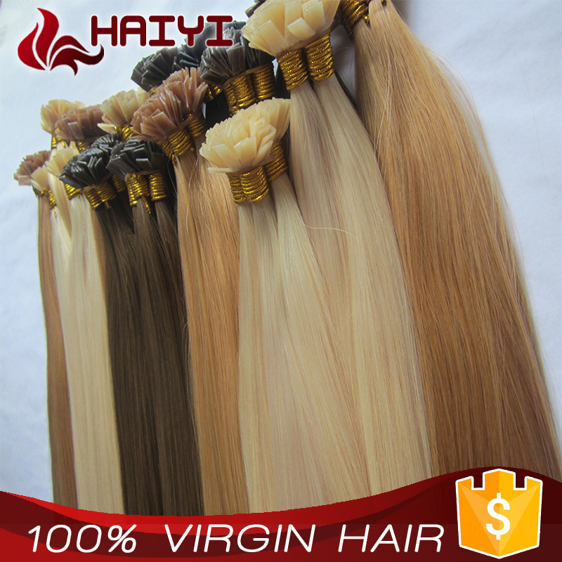 Qingdao Hair 100 Human Flat/U/I/V Tip Hair Extensions Cheap Remy Hair Wholesale