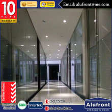 aluminium Office Partitioning System Glass partitions for office