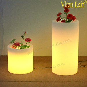 waterproof outdoor rgb glowing floating flower pot