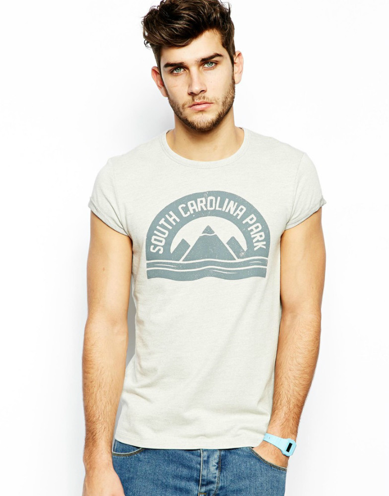 95 Cotton 5 Lycra Muscle Fit Men T Shirt Printing Cheapest