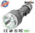 High power cree T6 rechargeable silver flashlight