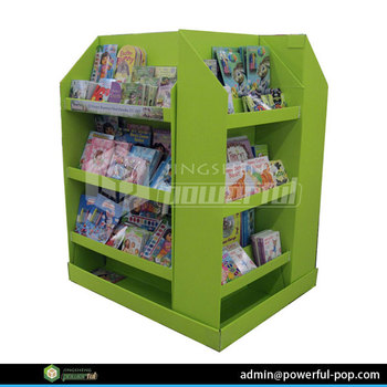 advertising children books POS four sides cardboard combination pallet display stand