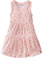 Baby girls flower printed tiered sundressess