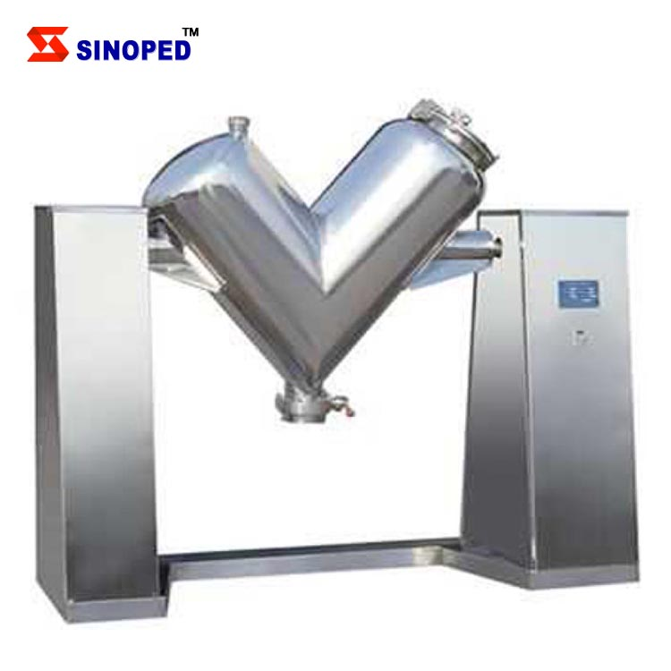 V type dry powder mixing machine for pharma, food and chemical factory
