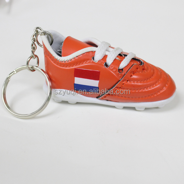 France Football Soccer Futbol Mini Shoe KeyChains KeyRings