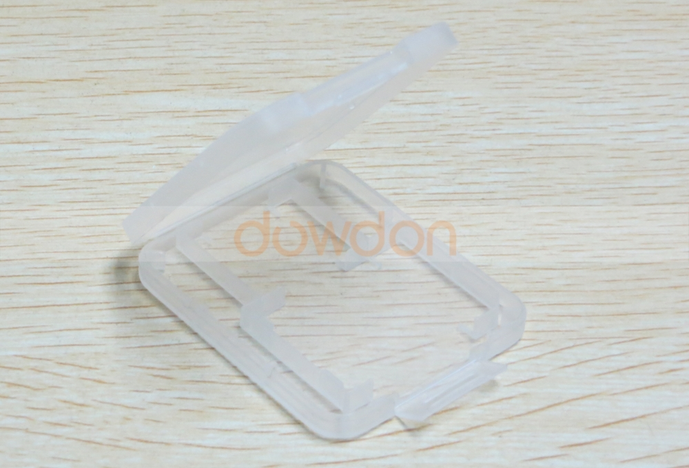 2 in 1 Cheapest Semi Transparent Plastic Box for Memory Card Adapter