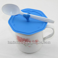 Factory new arrival hot 100% safe food grade silicone cup lid/eco-friendly silicone cup covers