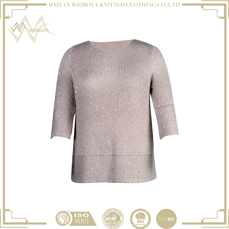 2016 Cute and fashion cricket ladies sequin sweater top
