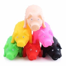 soft plastic hedgehog pig with screech animal toy vivyl toy