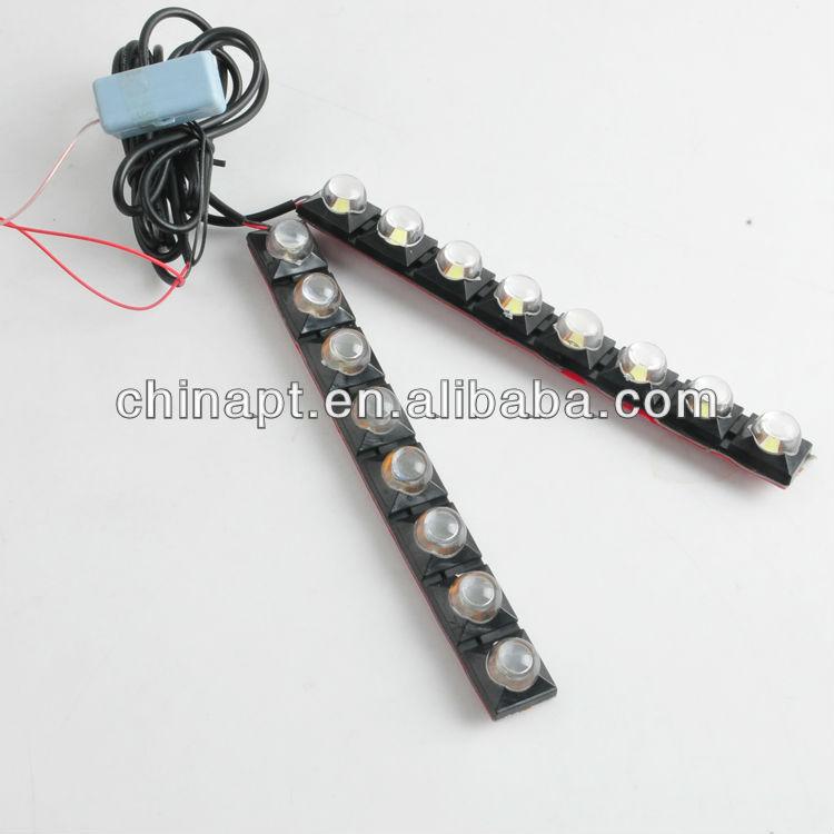 acessórios do carro levou auto luzes drl led cabeça da lâmpada