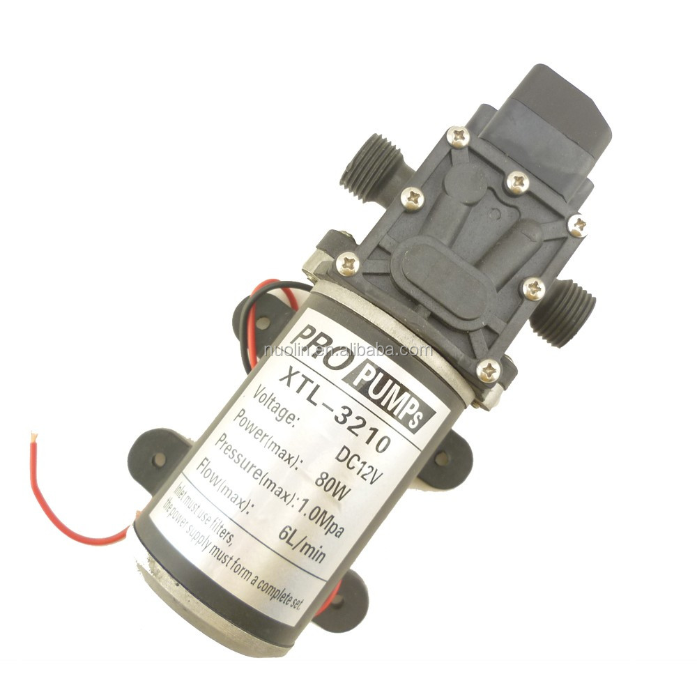 self priming high pressure mini 12v 24v dc water pump , not submersible