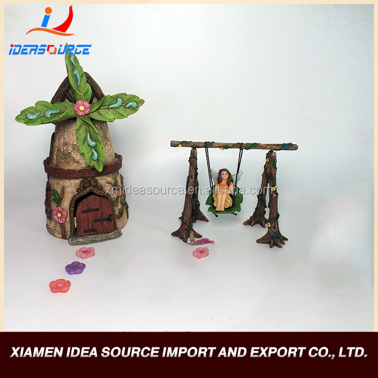 2016 Promotion Cheap High Quality Resin Crafts/Resin Figurine/Miniature Fairy Garden Kits