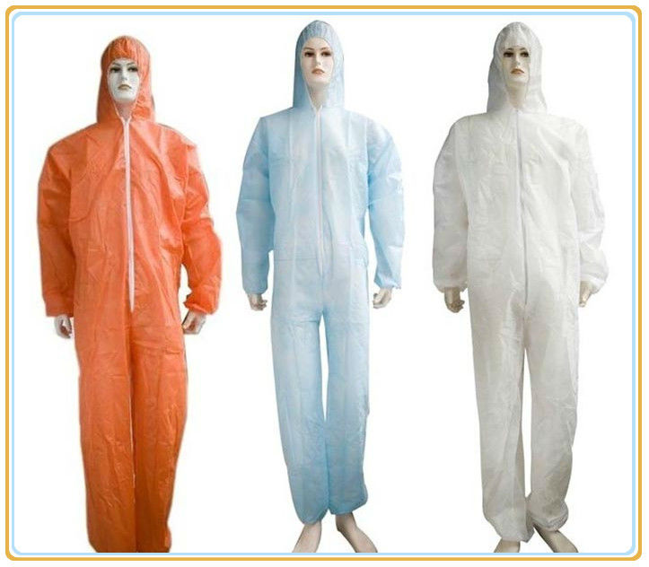 Hot! disposable PP/nonwoven/SMS/SF coverall