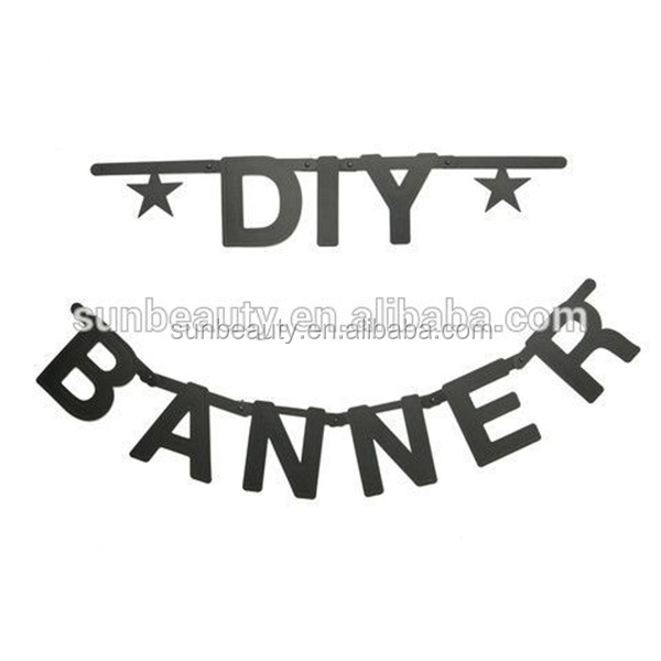 DIY trade in China paper crafts letter banner