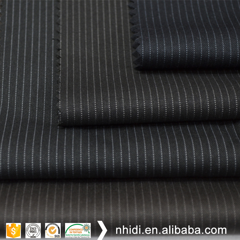black and whtie stripe printed men's suiting fabric