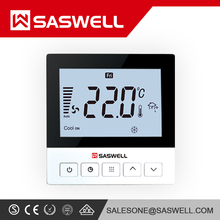 High Quality SASWELL Thermostat Air Conditioner Fan Coil Room Digital Thermostat SAS921FCT